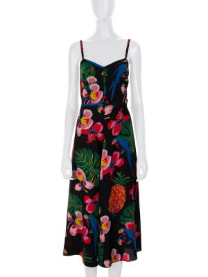 Flower Print Long Strap Silk Dress by Valentino - Le Dressing Monaco