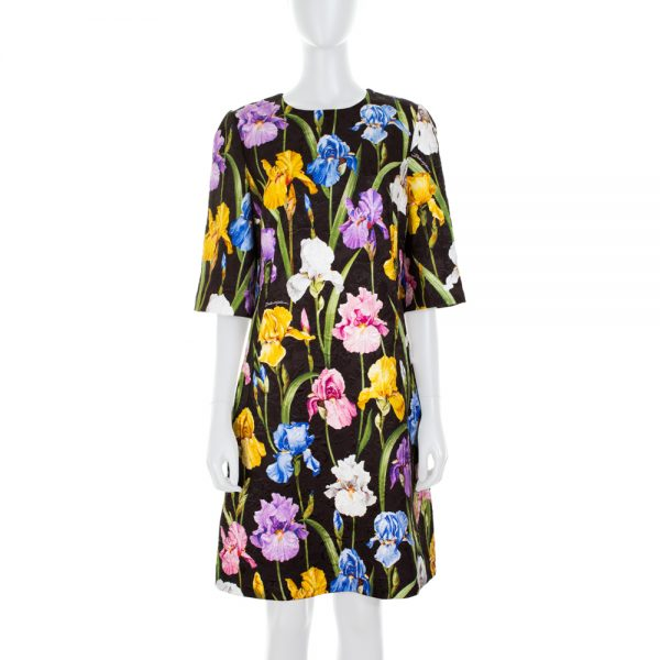 Multicolor Iris Print Dress by Dolce e Gabbana - Le Dressing Monaco
