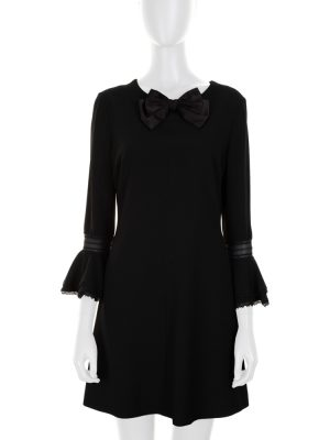 Black Mini Dress With a Bow by Saint Laurent - Le Dressing Monaco