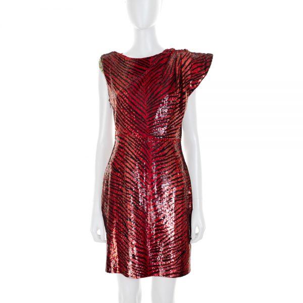 Animal Pattern Asymmetric Sequined Dress by Saint Laurent - Le Dressing Monaco