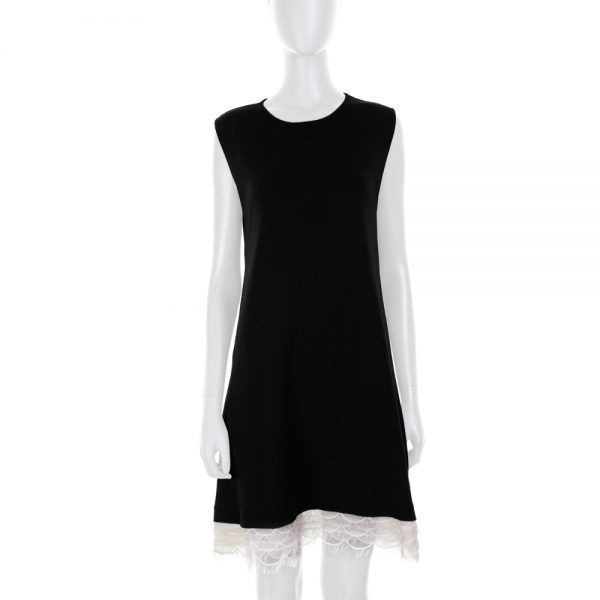 Short Sleeved Wool Dress Plumetis Details by Red Valentino - Le Dressing Monaco