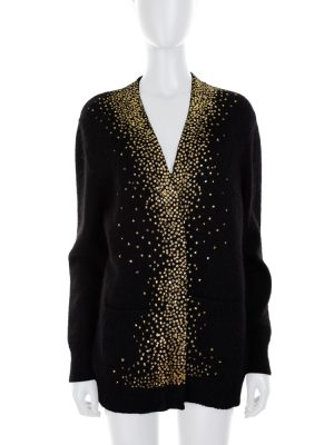 Buttonless Cardigan Gold Dots by Saint Laurent - Le Dressing Monaco