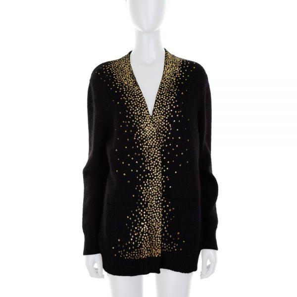 Buttonless Cardigan Gold Dots by Saint Laurent - Le Dressing Monaco