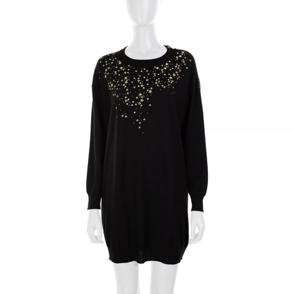 Jumper with Gold Stars and Rings by Moschino Boutique - Le Dressing Monaco