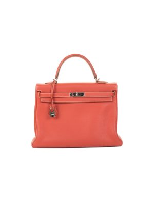 Kelly 35 Sanguine Togo Leather by Hermès - Le Dressing Monaco