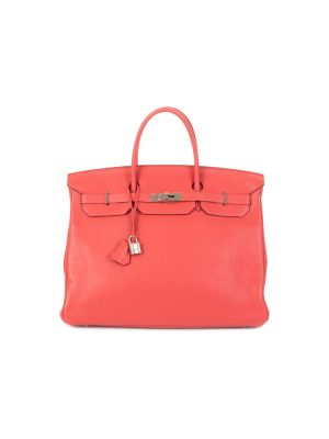 Birkin 40 Pivoine Taurillon Clémence Leather by Hermès - Le Dressing Monaco
