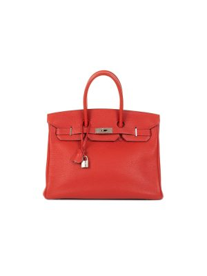 Birkin 35 Vermillon Togo Leather by Hermès - Le Dressing Monaco