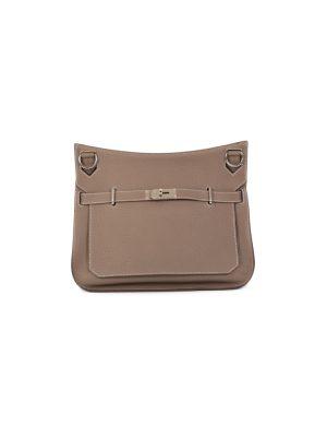 Jypsière 37 Etoupe Taurillon Clémence Leather by Hermès - Le Dressing Monaco