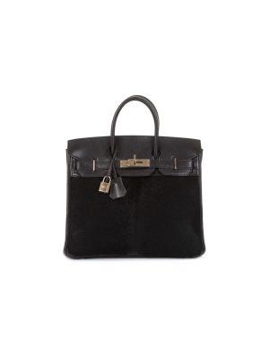 Birkin Haut à Courroies 28 Troika Black by Hermès - Le Dressing Monaco