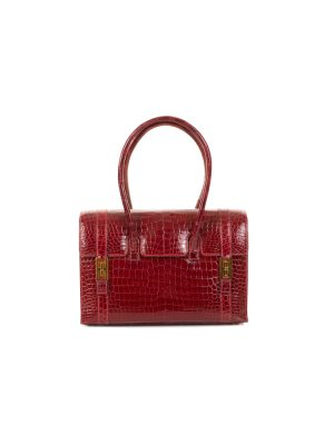 Drag Rouge Vif Porosus Leather by Hermès - Le Dressing Monaco