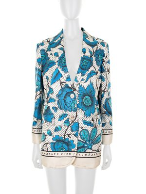 Gucci à Arles Blue Silk Blazer by Gucci - Le Dressing Monaco