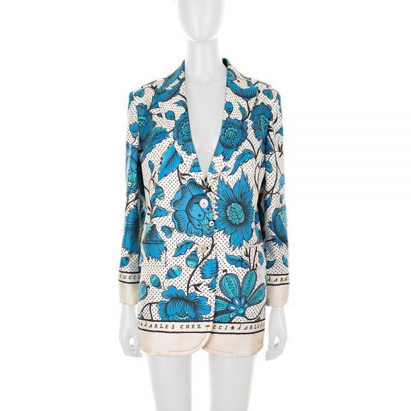 Gucci à Arles Blue Silk Blazer by Gucci - Le Dressing Monaco