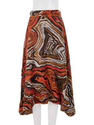 Long Fantasy Lurex Trapeze Skirt by M Missoni - Le Dressing Monaco