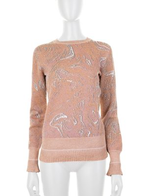 Long Sleeved Nude Lurex Jumper by Lanvin - Le Dressing Monaco