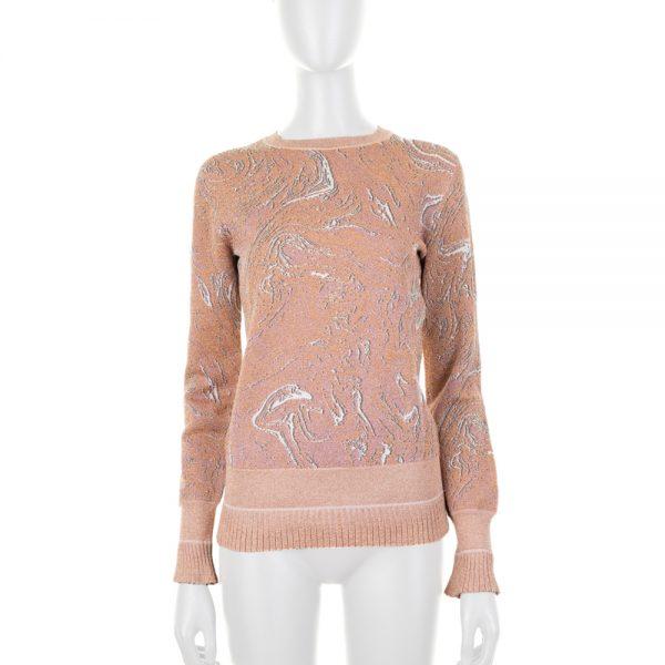 Long Sleeved Nude Lurex Jumper by Lanvin - Le Dressing Monaco