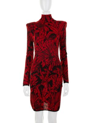Nature Fantasy Zipped Knitted Dress by Balmain - Le Dressing Monaco