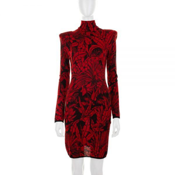 Nature Fantasy Zipped Knitted Dress by Balmain - Le Dressing Monaco