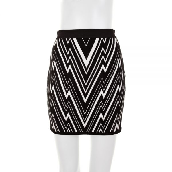 Fantasy Knitted Zipped Mini Skirt by Balmain - Le Dressing Monaco