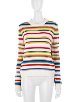 Multicolored Striped Knitted Wool Jumper by Saint Laurent - Le Dressing Monaco