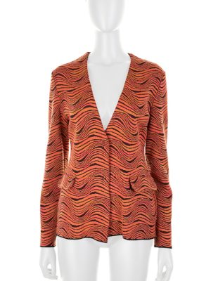 Orange Fantasy Knitted Cardigan by M Missoni - Le Dressing Monaco
