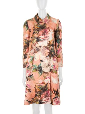 Pink Floral Pattern Coat by Dolce e Gabbana - Le Dressing Monaco