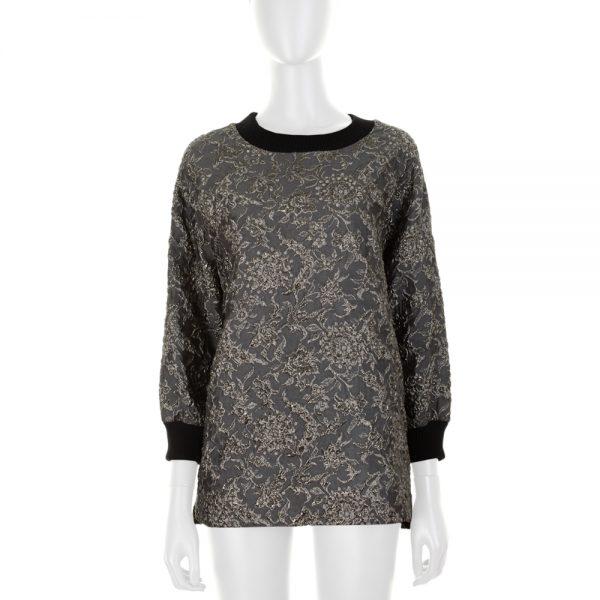 Silver Floral Jumper by Dolce e Gabbana - Le Dressing Monaco
