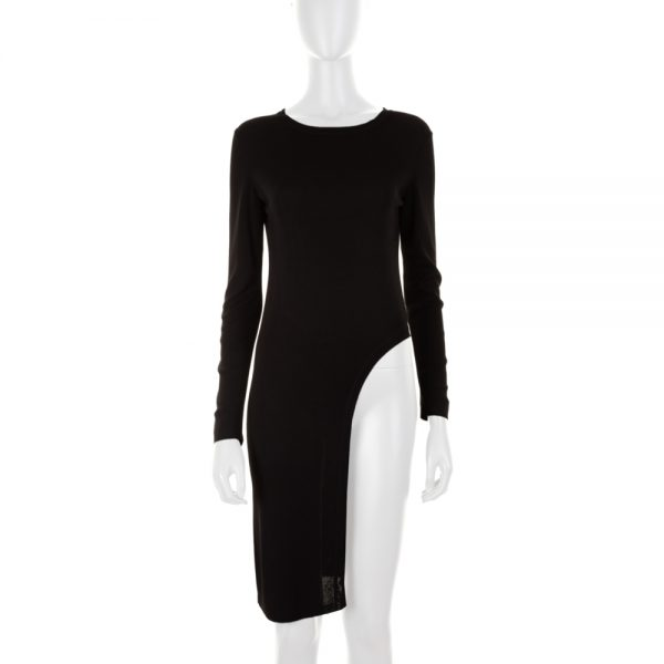 Asymmetric Black Knitted Tunic by Chanel - Le Dressing Monaco