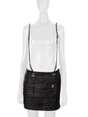 Quilted Lambskin Skirt Chain Suspenders by Chanel - Le Dressing Monaco