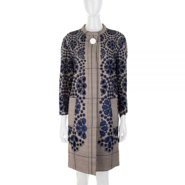 Embroidered Openwork Tweed Coat by Louis Vuitton - Le Dressing Monaco
