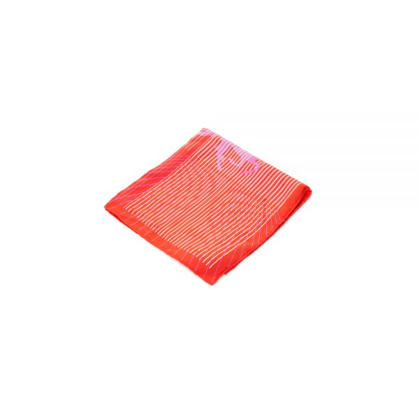 Red Lines Horse Silk Pocket Square by Hermès - Le Dressing Monaco
