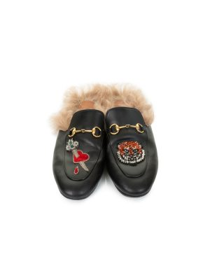 Embroidered Furry Horsebit Loafers by Gucci - Le Dressing Monaco