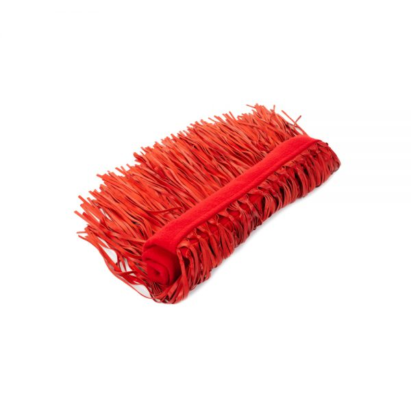 Red Cashmere Shawl Leather Fringes by Hermès - Le Dressing Monaco