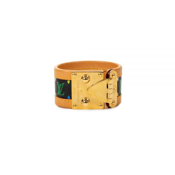 Multicolor Monogram Leather Manchette by Louis Vuitton - Le Dressing Monaco