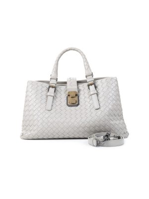 Leather Grey Roma Bag by Bottega Veneta - Le Dressing Monaco