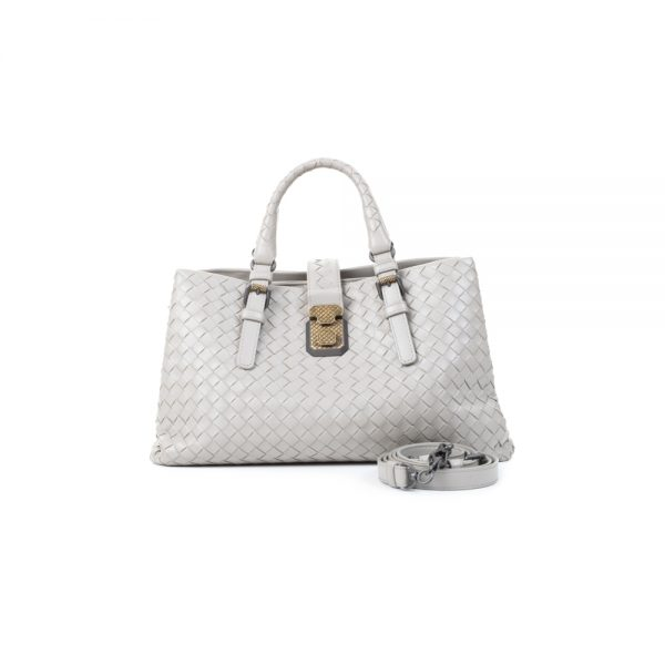 Leather Grey Roma Bag by Bottega Veneta - Le Dressing Monaco
