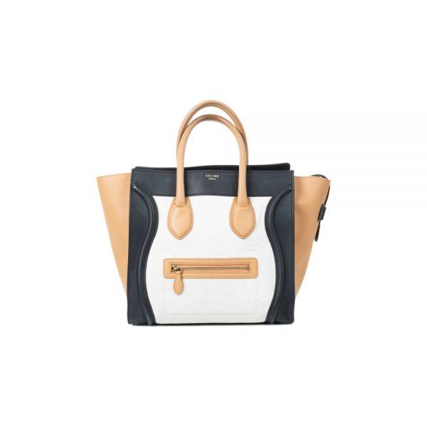 Leather Tricolor Tote Bag by Céline - Le Dressing Monaco