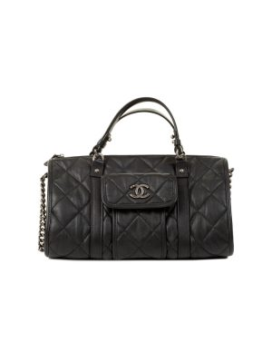 Black Zipped Bowling Handbag by Chanel - Le Dressing Monaco