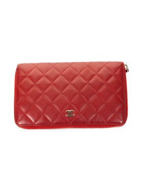 Red Quilted Leather Wallet by Chanel- Le Dressing Monaco