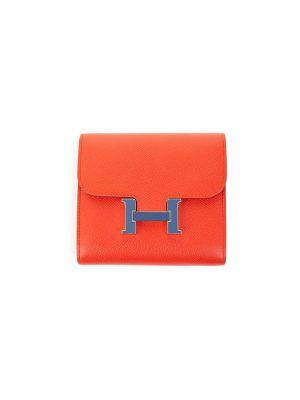 Epsom Short Wallet Geranium by Hermès - Le Dressing Monaco