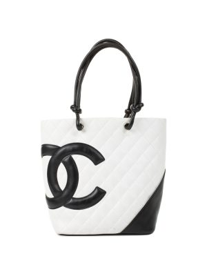 White Leather Quilted Bucket Handbag by Chanel - Le Dressing Monaco