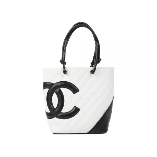 White Cambon Small Bucket Handbag by Chanel - Le Dressing Monaco
