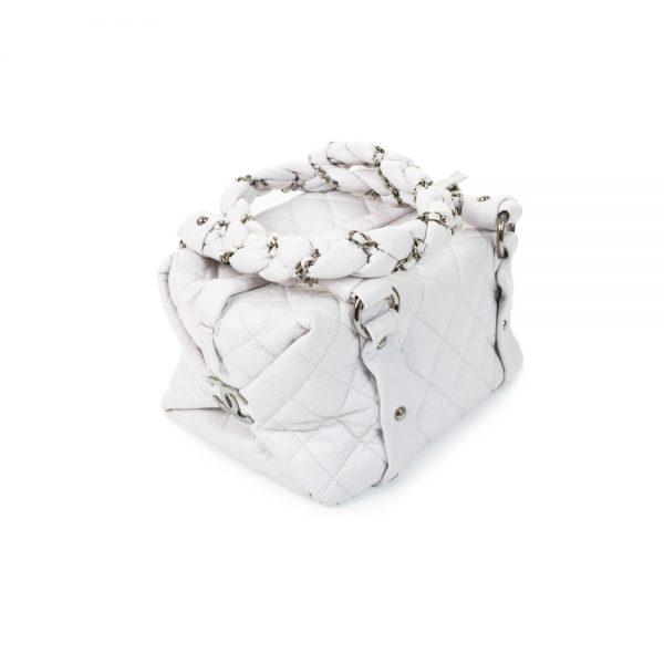Small Light Grey Lady Braid Handbag