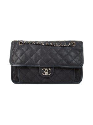 Navy Caviar Leather Medium Flapbag by Chanel - Le Dressing Monaco