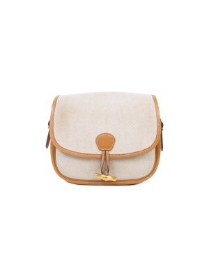 Beige Gold Shoulder Toile H Decoration Bag by Hermès - Le Dressing Monaco