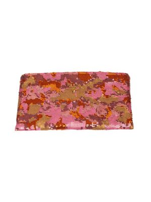 Pink Orange Camouflage Sequins Pochette by Prada - Le Dressing Monaco