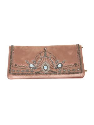 Nude Embroidered Silk Wallet by Dolce e Gabbana - Le Dressing Monaco