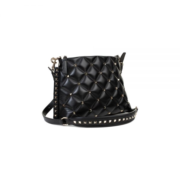 Black Candy Stud Crossbody Messanger bag by Valentino - Le Dressing Monaco