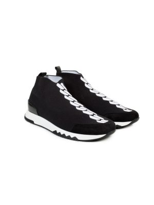 Black White Slip-On Volo Sneakers