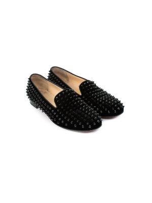 Black Rollerboy Flat Studded Loafers by Christian Louboutin - Le Dressing Monaco