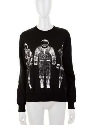 Astronauts Unisex Black Sweatshirt by Chanel - Le Dressing Monaco